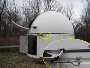 rain sensor deployed in an observatory